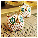 Womens Owl Alloy Stud Earrings