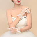 Lace Wrist Length Fingertips Wedding/Party Evening Gloves