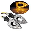 15 LED Turn Signal Indicators Light Lamp Bulb for Motorcycle Motorbike Amber (2 Pcs)