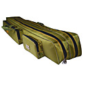 Fishdrops Fishing Bag, 39.6L Huge Capacity Water Proof Navy Green Canvas Bag 120cm 20cm 16.5cm