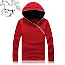 Mens Casual/Work/Sport Pure Long Sleeve Activewear Hoodie Sweatshirt Sets Top  (Cotton Blend)