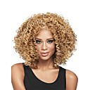 New Fashion Womens Glueless Deep Blonde Mix Curly Short Hair Wig for African American