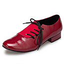 Non Customizable Mens Dance Shoes Tap Flocking Flat Heel Red