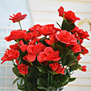 High Quality Artificial Flower Bright Color Rhododendron Silk Flower for Wedding and Decorative