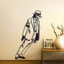 Wall Stickers Wall Decals, Fashion Michael Jackson PVC Wall Sticker