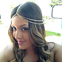 Women Alloy Western Style Simple Head Chain With Casual/Outdoor Headpiece Gold