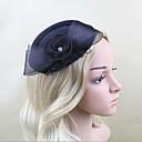 Women Satin/Net Western Style Bowknot Hats With Wedding/Party Headpiece Black