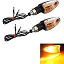 Motorcycle Amber Turn Signal Light Bulb Indicator (2 Pcs)