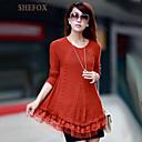 Womens Casual/Cute Inelastic Medium Long Sleeve Pullover (Knitwear)SF7E15