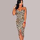 Womens Sexy Bodycon Cute Plus Sizes Micro Elastic Sleeveless Knee-length Dress (Microfiber)