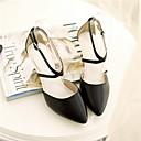 Womens Shoes Faux Leather Kitten Heel Heels/Pointed Toe Pumps/Heels Office  Career/Casual Black/Pink/White