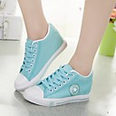 Women's Shoes Fabric Wedge Heel Comfort Round Toe Fashion Sneakers