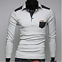 Mens Long Sleeve Polo , Cotton Casual / Sport Pure
