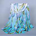 Womens Chiffon Colorful Print Scarf