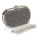 L.WEST Womens Noble And Elegant Diamonds Party/Evening Bags