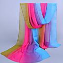 Womens Chiffon Colorful Print Scarf