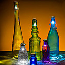 sughero a forma usb ricaricabile ha condotto la luce di notte della lampada bottiglia di vino vuota