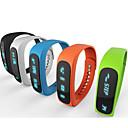 e02 braccialetto di sport bluetooth intelligente orologio tempo braccialetto sano / Caller ID / sveglia / pedometro Monitor sonno per ios