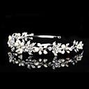 Vintage Charming Design Wedding Bride Handmake Headband Cown Pearls Hair Accessior Flower Silver