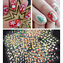 30PCS 3D Glitter Christmas Series Nail Stickers