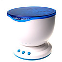 HRY LED Night Light Projector Ocean Blue Sea Waves Projection Lamp With mini Speaker