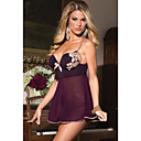 Womens 2 Pieces Microfiber and Mesh Babydoll