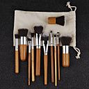 Pro Makeup Cosmetic Blush Brush Eyebrow Foundation Powder Kabuki Brushes Kit Set(11PCS)