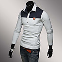 Mens Long Sleeve Polo , Cotton Casual / Work / Sport Pure