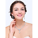Womens Silver Rhinestone Cubic Zirconia Alloy Jewelry Set