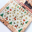 3D Gilding Christmas Series Christmas Stocking Nail Art Stickers