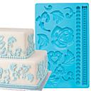 Cake Decoration Tools Baroque Fondant and Gum Paste Mold Cake Decorating Border Silicone Mold