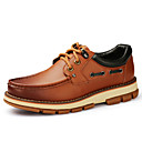 Mens Shoes Outdoor / Athletic / Casual Leather Boat Shoes Black / Brown
