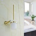 Contemporary Golden Crystal Brass Toilet Brush Holder