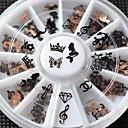 Image of 12pcs/set - Adesivi 3D unghie - Adorabile - Dito / Dito del piede - di Metallo - mix sizes