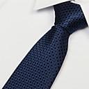 Black Dots Pattern Men Business Casual Occupational Tie