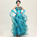 Ballroom Dance Outfits Womens Performance Spandex / Crepe/Rhinestones / Paillettes / Ruched DressHand actHead flower