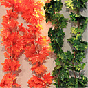 The Maple Leaves Cane Polyester Plants Artificial Flowers