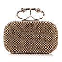 L.WEST Womens Noble And Elegant Heart DiamondsParty/Evening Bags