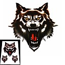 Motorcycle and Car Hoods Trunk Whole Body Animal Anger Ferocious Wolf Decal Personalized Car Sticker