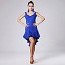 High-quality Lace with Draped Latin Dance Dresses for Womens Performance (More Colors)