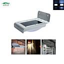 Zweihnder 16 LED Solar Power PIR Human Body Motion Sensor Lamp Waterproof Outdoor Garden Home Path Wall Light-Silver