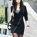 Womens Fashion Bodycon Zipper Hoodies Sweater Coat/Sexy  Casual V Neck Long Sleeve