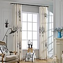 (Two Panels)Classic Pendant Lamp Pattern Embroidered Cotton Polyester Blend Curtain(Sheer Not Included)