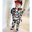 Boys  Velvet Clothing Set  , Spring / Fall  Printing Baseball  Leisure Sport Suit