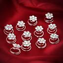 Brides Flower Crystal Swirl Spira Wedding Bridal Hair Pins Twists Coils 1 Pieces