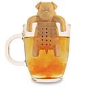 tè silicone caffè infuser carino pug filtro tazza teiera erbe spezie filtro (colore casuale)
