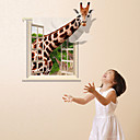 3D Wall Stickers Wall Decals, Giraffe PVC Wall Stickers