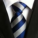 Men Wedding Cocktail Necktie At Work Blue White Tie