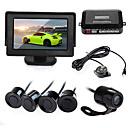Car Vehicle Reverse Parking Kit 4.3 Monitor  Camera  Black Sensors New