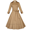 Maggie Tang Womens 50s VTG Retro Rockabilly Hepburn Pinup Swing Parka Business Dress 560
